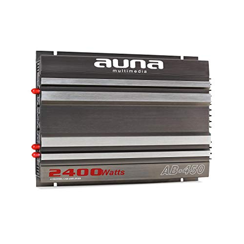Auna AB-450 - Amplificador para Coche, Potencia de 2.400 W, 4 Canales...