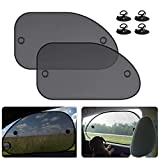 2 Pack Universal Car Window Shade, Cling Sunshade for Car Windows - Sun, Glare and UV Rays Protection for Your Child - Baby Side Window Car Sun Shades, Blocks Over 98% of Harmful UV Rays (Large)