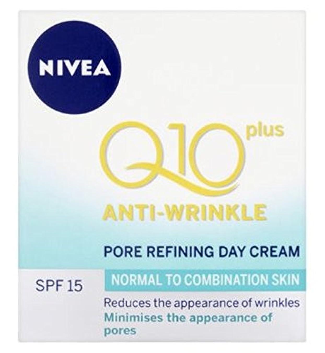 火山の疑問を超えてうぬぼれたNivea Daily Essentials Q10 Plus Anti-Wrinkle Pore Refining Day Cream For Normal to Combination Skin SPF15 50ml - 混合肌のSpf15の50ミリリットルに、通常のためのニベア生活必需品のQ10プラス抗しわポアリファイニングデイクリーム (Nivea) [並行輸入品]