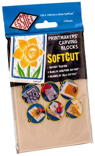 Educational Arts SC2 Weichschnitt-Printing Block , 150 x 105 x 3.0, 2 Stück
