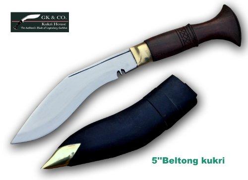 "Genuine Gurkha Kukri - 5"" Blade Biltong Wooden Handle Kukri- Handmade by GK&CO.Kukri House in Nepal."