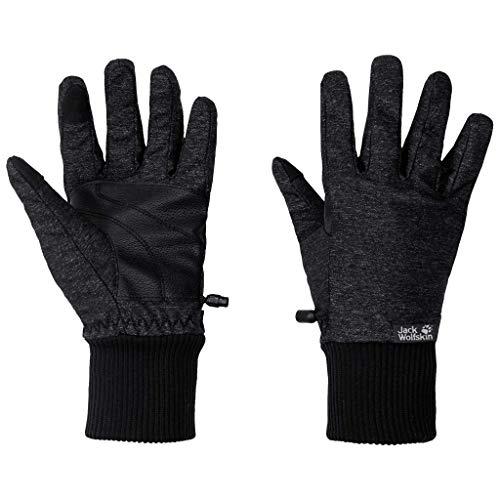 Jack Wolfskin Winter Travel Gants Femme, Black, FR : M (Taille Fabricant : M)