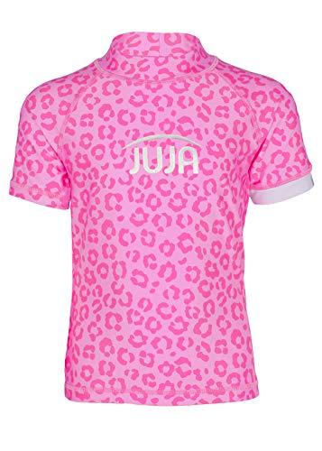 JUJA - Camiseta de baño para niña, diseño de Leopardo, Color Rosa, Niñas, S20420-432|6, Rosa, 110 cm-116 cm