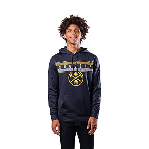 Ultra Game NBA Denver Nuggets Mens Fleece Midtown Pullover Sweatshirt, Team Color, Medium