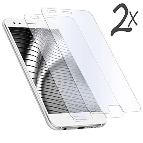 MYCASE 2X Bildschirmschutz Folie für Asus ZenFone 4 (ZE554KL) | Echt Glas | 0,3 mm Dünn