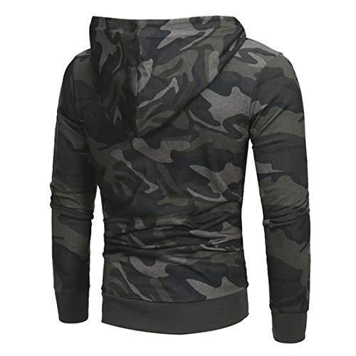 MENHG Men's Pullover Fleece Sweatshirt Camouflage Hoodies Men Long Sleeve Drawstring Outdoor Coat Sweater Fleece Lined Casual Sports Fitness Parka Jackets Hooded Hoody Outwear Top with Kangaroo Pocket