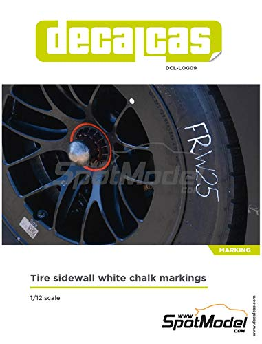 スポットモデル 1/12 デカールキャスシリーズ タイヤサイドウォール ホワイトチョークマーキング プラモデル用デカール DCL-LOG009