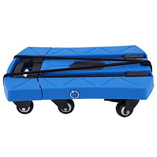 Carro de transporte plegable con 6 ruedas para camión, asa telescópica portátil para llevar artículos y accesorios privados como equipajes en tiendas de campaña, supermercados, almacenes, talleres