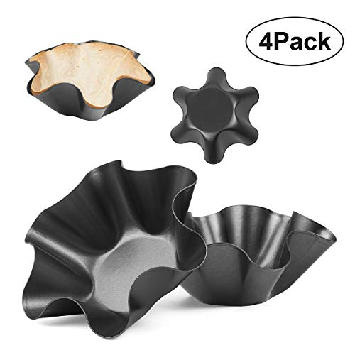 Tortilla Maker Nonstick Taco Shell Maker Salad Bowl Set of 4 Pack Perfect Taco Pan