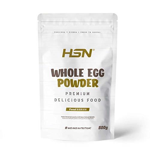 Proteína de Huevo Entero en Polvo de HSN | Para Vegetarianos | Sustituto del Suero de Leche | 100% Albúmina de Clara de Huevo + Yema | Apto para Intolerantes a la lactosa, Sin Gluten, Sin Soja, 500g