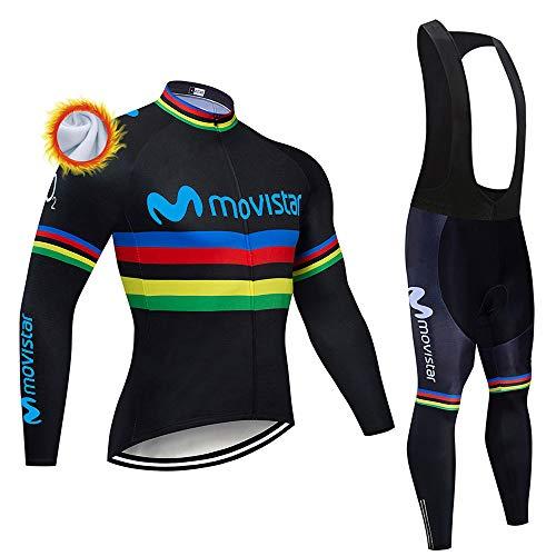 Ciclismo Maglie Professionisti Uomo Abbigliamento Ciclismo Invernale e Pantaloni Salopetto Termica Maglia Zip Invernale MTB (Molti Stili)