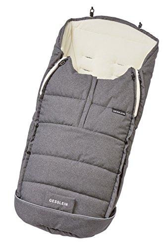 Gesslein Fußsack Igloo/Winterfußsack für Kinderwagen Design 714703, Sportwagen, Buggy oder Schlitten mit Thermo-Funktion, Kuschel-Fleece & Kordelzug im Kopfbereich, Farbe: grau