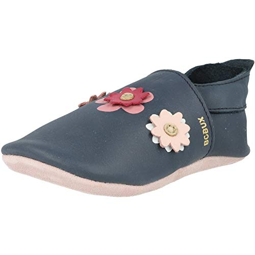 Bobux Soft Sole Flowers Blau (Navy) Leder 21-27 Monate
