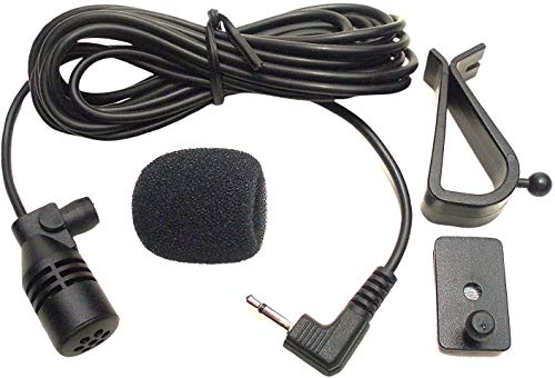 Mic 3.5mm Microphone External Assembly Compatible for Sony XAV-AX100,XAVAX1000, XAV-AX1000,XAV-AX5000, XAVV10BT,XAV-AX7000,XAV-AX8000,XAV-712BT Car Vehicle Bluetooth Enabled Audio Stereo Radio GPS DVD