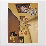 Bxygml Cuadro de decoración del hogar, Cuadros Abstractos de Setas, imágenes artísticas de Pared geniales, póster para Arte de habitación, 60x80cm sin Marco