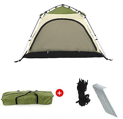 Qazxsw Tienda emergente, al Aire Libre, Doble Piso, Resistente al Viento, Impermeable, Ligera, automática, cabaña, Familia, Viaje, Camping