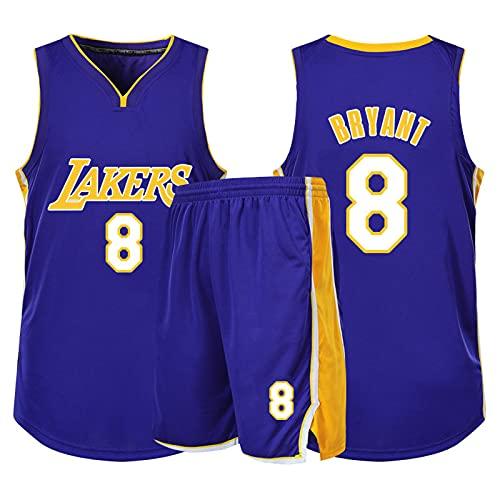 Xin Hai Yuan Jersey de baloncesto para niños y niñas, hombres, adultos, camiseta de manga corta y pantalones cortos, color morado, XXL