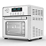 MOOSOO 18L Air Fryer Oven for Large Family, 8-in-1 Combo Convection Roaster with LED Display, 1500W & Large...
