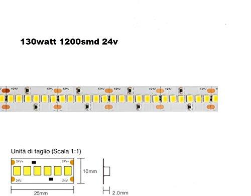 STRIP STRISCIA LED 1200SMD2835 130W 110Lm/w IP2010MM 24V IP20 2700K/4000K/6000K (Bianco caldo 2700K)