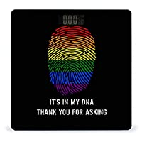 LGBT Pride 体重計、ステップオンテクノロジーを備えた精密デジタルボディバスルームスケール、強化ガラスイージーリードバックライト付きLCDディスプレイ