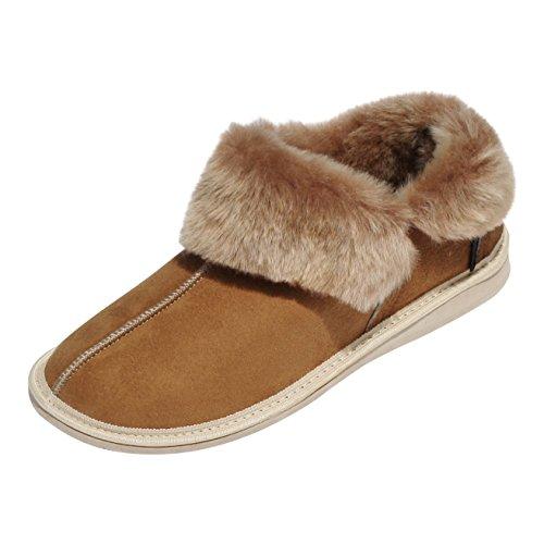 der-Fellmann Kanada Cognac Damen Lammfell- Mokassin Schuhgröße EUR 42