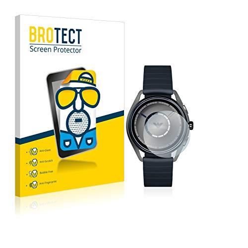 BROTECT 2X Entspiegelungs-Schutzfolie kompatibel mit Emporio Armani Connected Smartwatch ART5009 Bildschirmschutz-Folie Matt, Anti-Fingerprint