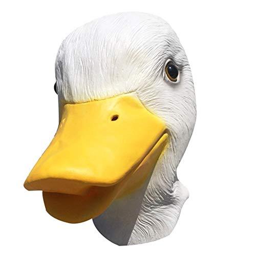 Motto.h Disfraz De Halloween Novedad Máscara De Cabeza De Pato De Látex Tamaño Adulto Blanco Landmark