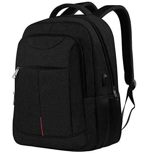 [LATEST 2020] Tech Laptop Backpack for Men, Travel Business Anti Theft Slim Durable Laptops Backpacks with USB Charging Port, Water Resistant College School Computer Bag Gifts Fits 15.6 Inch Notebook