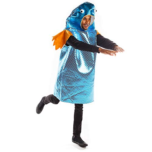 Funky Fish Halloween Costume – Funny Fishy Animal Suit, Adult One-Size Unisex
