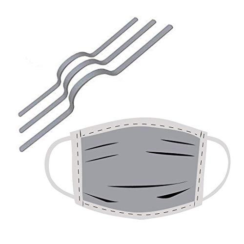 GD 20 Nasenbügel für Mundschutz I Premium Nasendraht für Masken I Metallbügel zum Nähen (20 Stück)