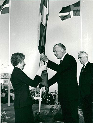 Schwedische Flagge Tag – Inga Kempe – Vintage Press Foto