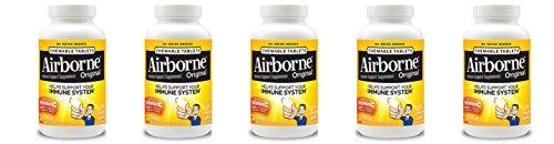 Airborne explosión de vitamina C–comprimidos masticables de 116–Berry o cítricos con sabor