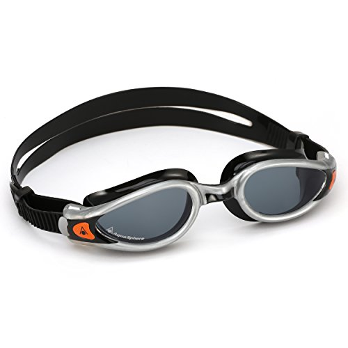 Aqua Sphere Unisex– Erwachsene Kaiman Exo Schwimmbrille, Getönte Gläser - Silber/Schwarz, One Size
