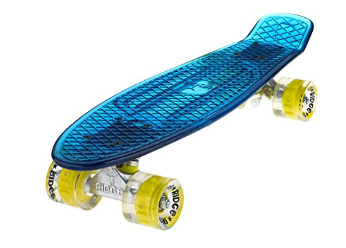 Ridge Skateboard Blaze Mini Cruiser , blau/gelb, 55 cm