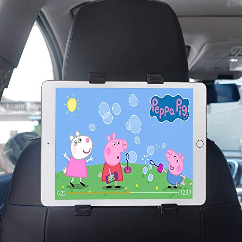"Support Tablette Voiture, Support Appuie-tête de Voiture, 360° Rotation Porte Tablette Voiture - Universel Support pour 7""~12.9"" iPad/Mini 2/3/4/5, iPad Air/Air 2, iPad Pro, Kindle Fire d'autres"