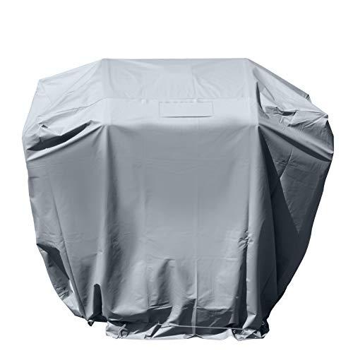 bremermann Schutzhülle für rechteckige Grillgeräte, Grillabdeckung für Gasgrill, hochwertig, wetterfest, grau