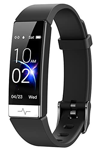 GPS Uhr Fitness Tracker Armband Damen Herren Schrittzähler Smartwatch mit Blutdruckmessung IP68 Wasserdicht Pulsuhren Sportuhren Laufuhr Aktivitätstracker Fitnessuhr Smart Watch IOS Android