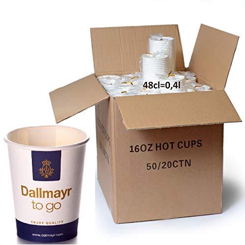 Dallmayr Coffee to go Becher 0,4l Pappbecher 1000 Stk.