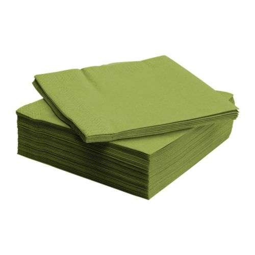 FANTASTISK / ペーパーナプキン / グリーン / 40×40cm 50ピース IKEA イケア