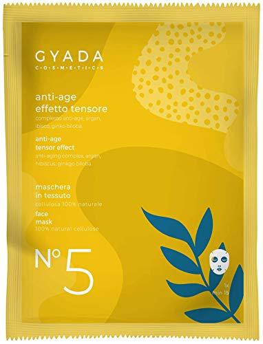 Gyada Cosmetics Maschera in Tessuto N. 5 Anti-Age/Effetto Tensore,Certificata Bio- 15 Ml