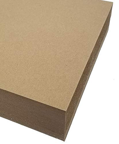 "Chipboard- 8.5""x11"" 22pt (100 Sheets) - 100% Recycled- Made in USA"