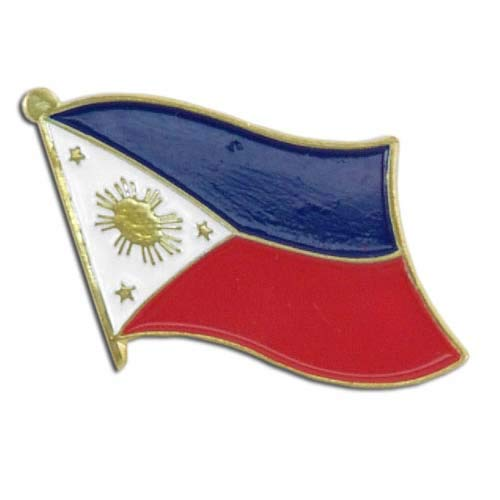 Lowest Prices! US Flag Store PIWPH Philippines Flag Lapel Pin, Red, White, Blue, Gold