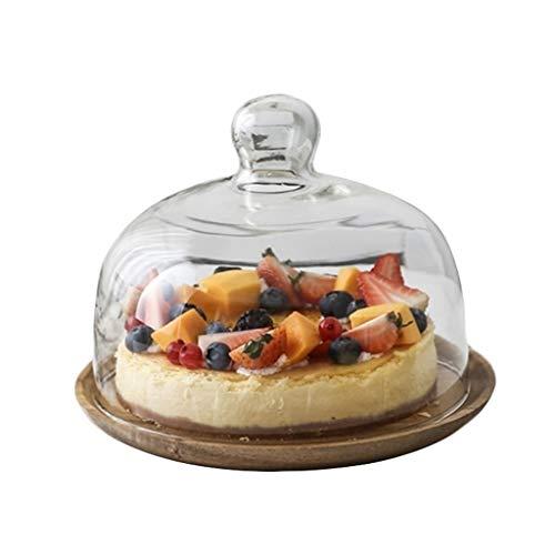 campana cristal base madera fabricante Restaurant plate-CSQ