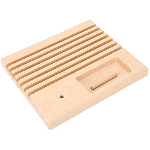 Madera con textura suave y fiable, madera fuerte, resistente, regla de retazos para acolchar, agujas, bobina de remiendo para regla de costura