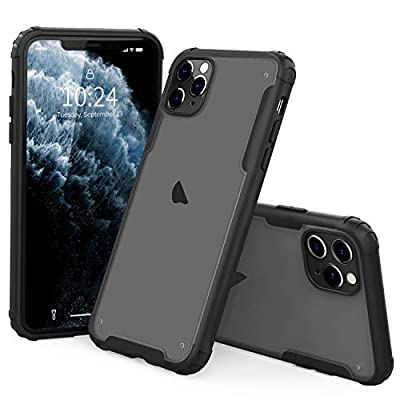 """I STRIVE Heavy Duty Military Grade iPhone 11 Pro Max Case -Matte - Phone Armor - Shock/Shatterproof - Slim - Hybrid Materials-Wireless Charging- Compatible with iPhone 11 Pro Max 6.5"""" (Black)"""