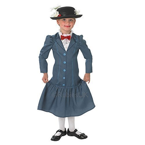 Rubie's - Costume da Mary Poppins per bambine, composto da vestito e cappello
