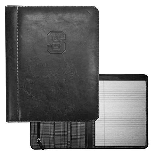 Carolina Sewn NCSU NC State Wolfpack Padholder Black Genuine Leather Padfolio