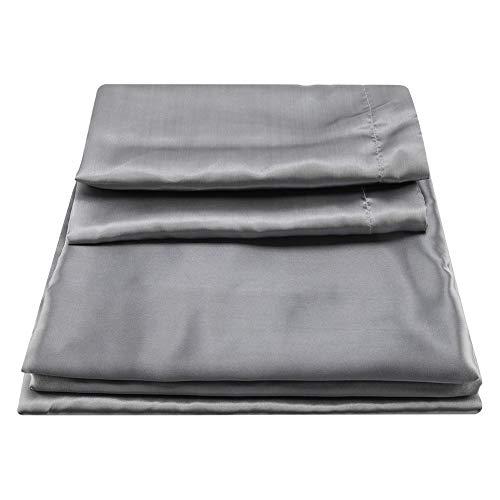 TOPINCN Dekbedovertrek Sets Satijn Zijde Effen Kleur Dekbedovertrek Bed Sheet Kussenslopen Twin Queen King Bedding Set