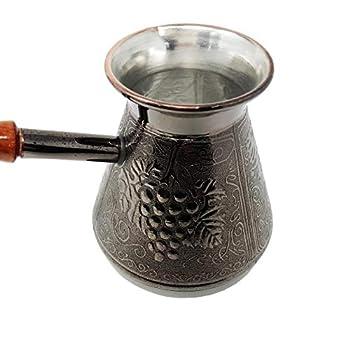Madacha Pot à café/Cafetière Turka - Cuivre étamé - 450 ML - Utilisable sur Tous Feux sauf Induction - Fabriquée en Russie