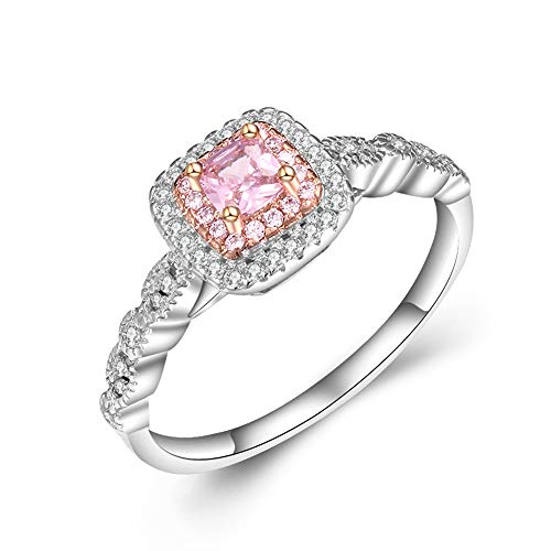 14K Oro Rosa Diamante Ring Cuadrado Banda De Bodas Piedras Preciosas Anillos De Amatista Para Las Mujeres Anillos Jade Joyería Peridot Bizuteria 8